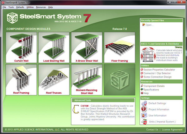 SSS V7 Front Interface