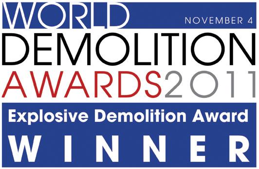 World Demolition Awards 2011 – Fabio Bruno Construçoes wins the Explosive Demolition Award