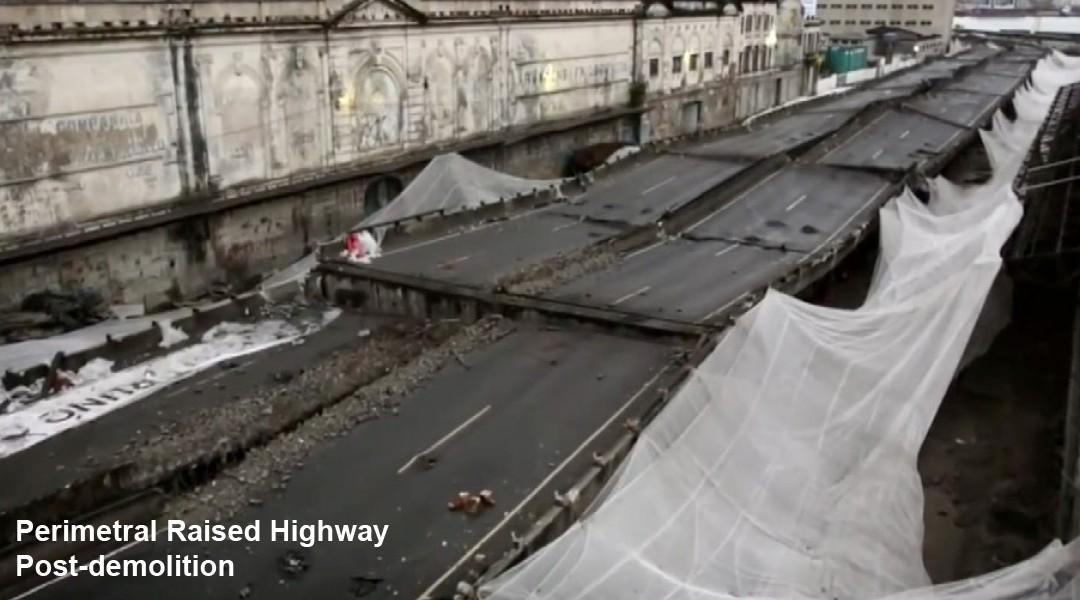 Implosion of Perimetral Bridge